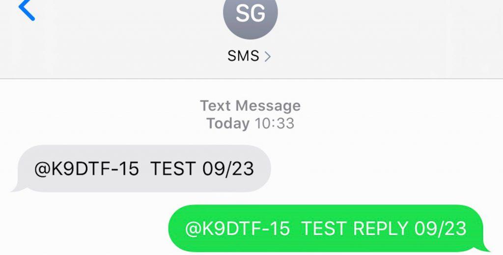 Iphone to Yaesu radio sms texing