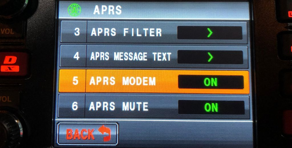 Make sure APRS modem is on