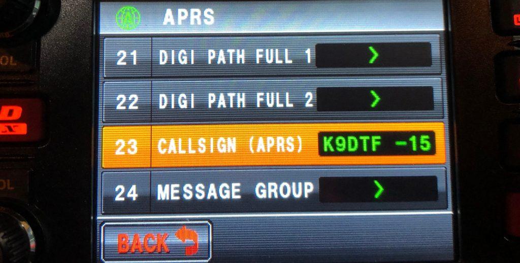 APRS Callsign SSID