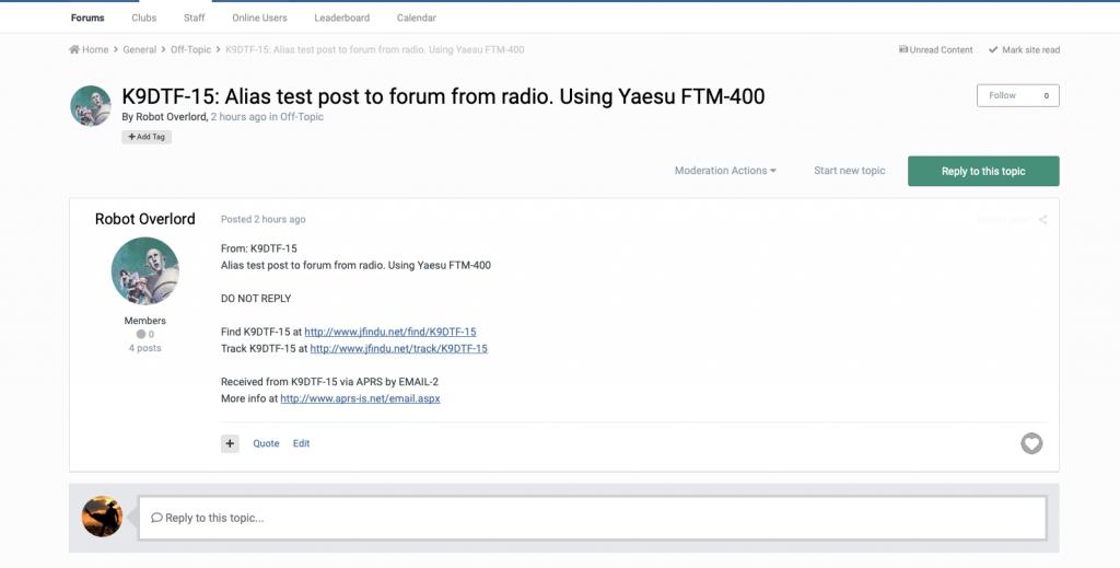 Forum Post