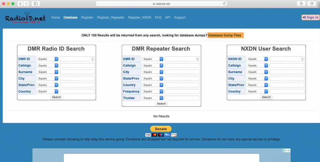 DMR User Database
